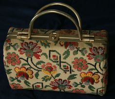 Vintage purse golden handles made in Italy