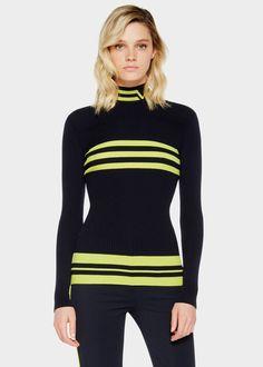 Versace Sweater   Striped Effect Wool Blend Sweater Knitwear - Versace Abbigliamento
