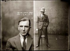 actual mugshot, as used by the police department of New South Wales to document the appearance of a typical criminal in 1925.