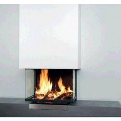 De Kal-fire Heat Free is een #houthaard met een 3-zijdig vuurzicht. De afwerking van de Kal-fire Heat Free bestaat uit een liftdeur en lamellen binnenwerk.. Standaard wordt de Kal-fire Heat Free geleverd in de kleur zwart. #Fireplace #Fireplaces