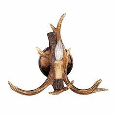 LNC Resin Deer Horn Antler Wall Sconce,1 Light(Bulbs Not Included)