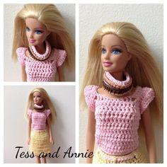 Tess and Annie: Free Crochet Pattern - Barbie Infinity Scarf