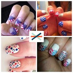 Check out these stars and stripes-inspired manicures for the #4thofJuly. Which one should I try? #nails