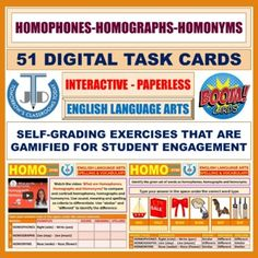 Interactive, self-grading and paperless boom cards on teaching and learning resources of homophones, homographs and homonyms based on New Bloom's Taxonomy.After attempting these boom cards students will be able to:Compare and contrast homophones, homonyms and homographs.Recall the meaning of homopho... Learning Cards, Learning Resources, Teacher Resources, Teaching Ideas, Classroom Resources, Subordinating Conjunctions, Homographs, Simple Sentence Structure, Compound Complex Sentence