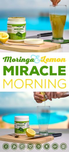 Cholesterol Cure - Moringa Miracle Morning Elixir to Jump Start Your Day! - The One Food Cholesterol Cure Smoothies, Smoothie Recipes, Vitamix Recipes, Crockpot Recipes, Detox Drinks, Healthy Drinks, Healthy Recipes, Keto Recipes, Moringa Powder