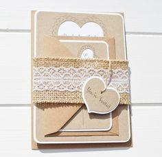 Jute und Lace Wedding Invitation rustikale von ForestFernDesigns