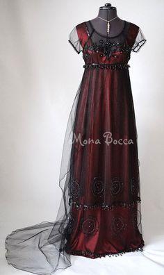 Titanic Rose Jump Dress Regency dress Handmade in England by Mona Bocca