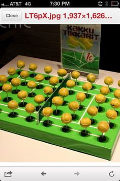 #Tennis #cakepops - For all your cake decorating supplies, please visit craftcompany.co.uk