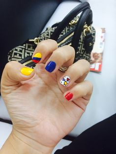 Uñas Colombia nails Nailart, Nail Inspo, Cute Nails, Nail Colors, Nail Art Designs, Hair Beauty, Nail Polish, Girly, Make Up