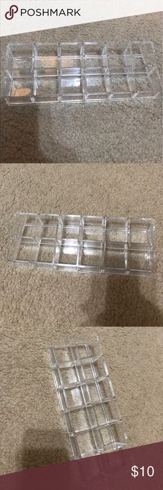 Acrylic Nail Polish 12-Tray In Excellent Condition!!! Fits 12 Polish!!! Purchased from Container Store. 🚫No Trades🚫 🚫No Modeling🚫 Makeup Brushes & Tools