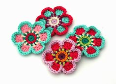 Inspiration from these Crochet Flower Motifs from Annie's Design @ €5.51 on Etsy