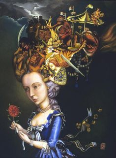 Paintings by Carrie Ann Baade, on the cover of Apex Magazine, August 2013