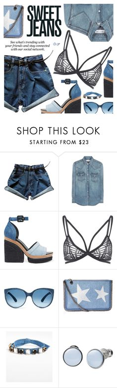 """Sweet Jeans"" by black-fashion83 ❤ liked on Polyvore featuring Yves Saint Laurent, Pierre Hardy, STELLA McCARTNEY, Erdem, Cara, Skagen, polyvoreeditorial, polyvoreset and stylemoi"