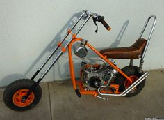 Mini Chopper Motorcycle, Mini Motorbike, Chopper Frames, Homemade Motorcycle, Motorised Bike, Drift Trike, Pit Bike, Cool Motorcycles, Bike Frame