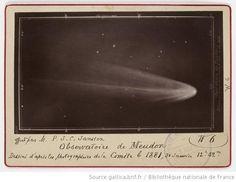 Early comet image 1881 [Phot. de la comète b de 1881, prise le 31 janv. à 12 h. 52 à l'Observatoire de Meudon, don Pierre Jules César Janssen] - 1