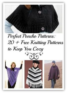 Perfect Poncho Patterns 20 Free Knitting Patterns to Keep You Cozy