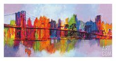 Abstract Manhattan Giclee Print