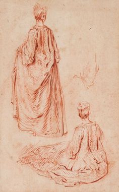 A Seated Woman, 1716 Antoine Watteau