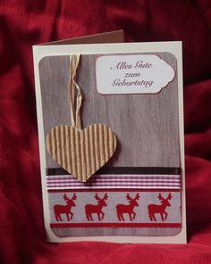Geburtstagskarte Hirsch von Sophie ne s'ennuie pas auf DaWanda.com Coasters, Birthdays, Christmas Cards, Weihnachten, Drink Coasters, Coaster
