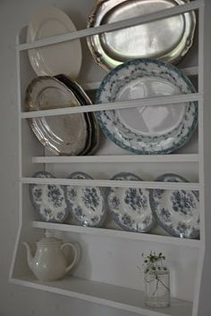 Provence Style, Plate Racks, China Cabinet, Kitchenware, My House, Decorative Plates, Shelves, Storage, Furniture