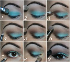 Wearable Aqua Eyes Tutorial using BH Cosmetics Party Girl Palette