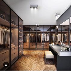 Best Modern Closet Design, For you fashion lovers and the latest clothing collection, the closet is a favorite furniture that is certainly needed at home. Walk In Closet Design, Closet Designs, Modern House Design, Modern Interior Design, Luxury Interior, Modern Houses, Armoire En Pin, Dressing Room Design, Dressing Rooms