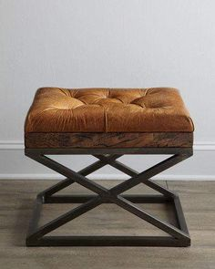 Shop Warona Leather Bench at Horchow, where you'll find new lower shipping on hundreds of home furnishings and gifts. Iron Furniture, Bench Furniture, Steel Furniture, Leather Furniture, Rustic Furniture, Bedroom Furniture, Furniture Design, Furniture Ideas, Furniture Websites
