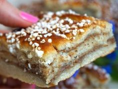 kanelbullar i långpanna Baking Recipes, Cookie Recipes, Delicious Desserts, Yummy Food, Kolaci I Torte, Zeina, Swedish Recipes, Pavlova, Food Cakes