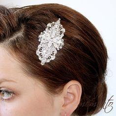 Katherine Swarovski Rhinestones and Pearls Hair Comb by MyMEMENTO, $68.70