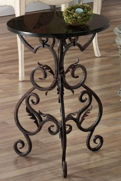 Wrought Iron Side Table Tables Living Room Furniture Homedecorators