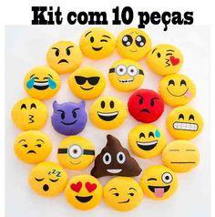 Almofada Emoji Whatsapp Kit Com 10 Peças - R$ 130,00