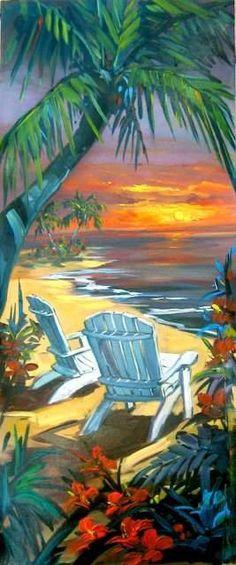 Steve Barton at the beach art