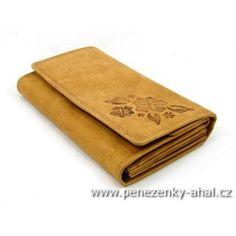 Velká dámská kožená peněženka z masivní kůže