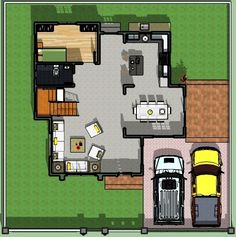 Contemporary 10 - House Designer and Builder Simple House Plans, House Floor Plans, Philippines House Design, Two Story House Design, Philippine Houses, Duplex Plans, Construction Contract, Maids Room, Ground Floor Plan