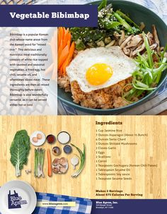Korean Bibimbap (David and I prefer stone bowl with raw egg that cooks as it hits the hot stone bowl.)