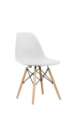 Mid-Century Slope Chair in White | dotandbo.com