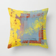 Yellow Leaves throw pillow cover by Ramon Martinez Jr now on @Society6 !