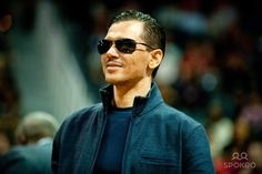Musical artist El DeBarge in attendance during the game between the New Orleans Hornets and Atlanta Hawks during the fourth quarter at Philips Arena.