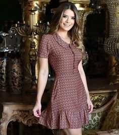 find more at Simple Dresses, Cute Dresses, Casual Dresses, Short Sleeve Dresses, Fashion Mode, Womens Fashion, Dress Outfits, Fashion Dresses, Western Dresses