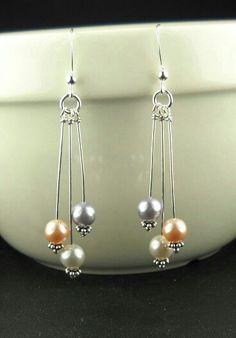 Genuine Sea Glass Jewelry Set, Sea Glass Necklace And Earrings With Swarovski…