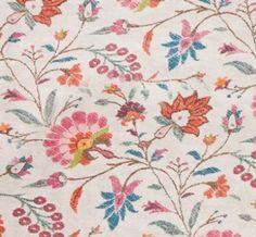 Kashgar 2 Spice  hand printed on 100% Natural Linen