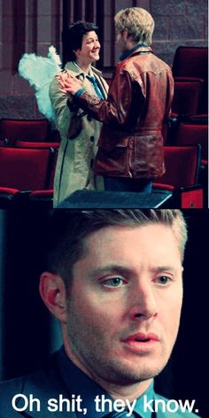 """Oh shit, they know."" 