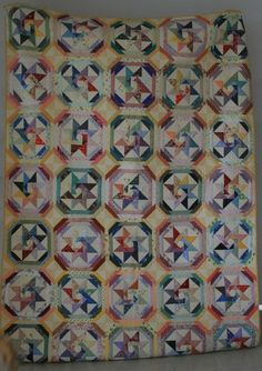 Star of the Orient made by Lynette Anderson from the pattern in Scrap Quilts, 1985, by Judy Martin. I love scraps!