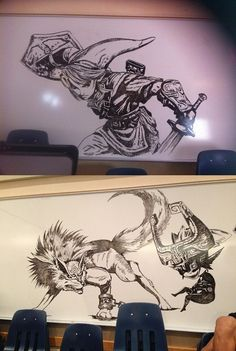 School Janitor Wins the Internet With Awesome Zelda Drawings