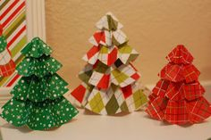 Tutorial Christmas Paper Trees-so easy!