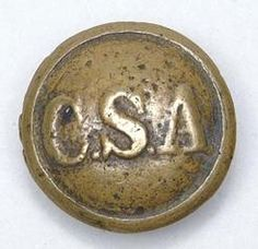Civil War Confederate States buttons | rare solid cast Confederate States of America CSA coat-sized button ...
