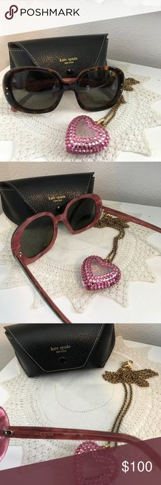Kate Spade Sunnies ♠️Like New The Beauties are in excellent condition. I see no scratches on the lens . They are tortoise shell brown with a soft pink inside model number 135 Gladyss japp they retail  for 198 they come with black KS case use offer button kate spade Accessories Glasses