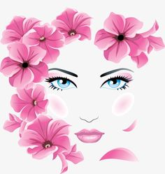 Find Girl Floral Face stock images in HD and millions of other royalty-free stock photos, illustrations and vectors in the Shutterstock collection. Floral Illustrations, Illustration Art, Beauty Illustrations, Arte Pop, Face Art, Woman Face, Fashion Art, Fashion Painting, Art Drawings