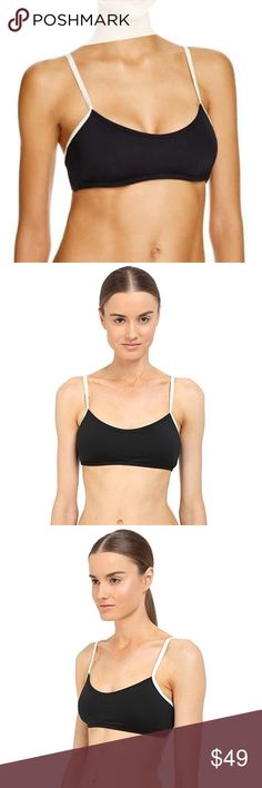 KATE SPADE DEMI Bralette Top Black Large NWT About this item 84% Nylon/16% Spandex Imported Stretch Solid Strappy Black New in retail packaging! Retail over $80. Manufacturer reference: S30075-001. All sales are final on Poshmark and especially with swim-swim like multi wear for hygienic reasons. Please know your size. This is a size large. Sold out mostly everywhere. This is the top. No bottoms as this is a swim / versatile crop piece. Can be mixed with complimenting bottoms of any kind…