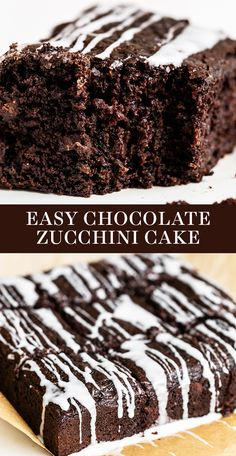 Ultra rich, moist, and fudgy Easy Chocolate Zucchini Cake is the perfect summer treat for any chocoholic and can be made in less than 1 hour! Homemade and from-scratch, no boxed mix here. The best recipe for a crowd at your summer BBQs! #chocolatecake #zucchinicake #cakerecipe #bestcake